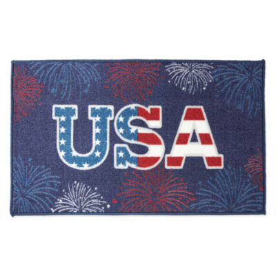 JCPenney Home Patriotic USA Rectangular Rug