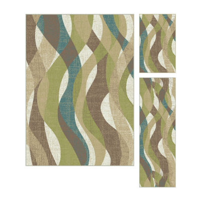Tayse Deco Willow 3-pc. Rug Set