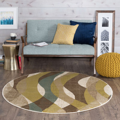 Tayse Deco Willow Round Area Rug