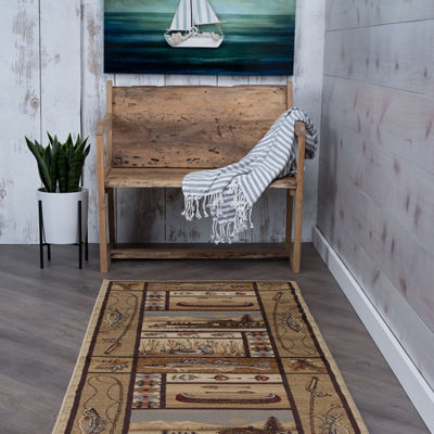 Tayse Nature Lodge Retreat Runner Rug
