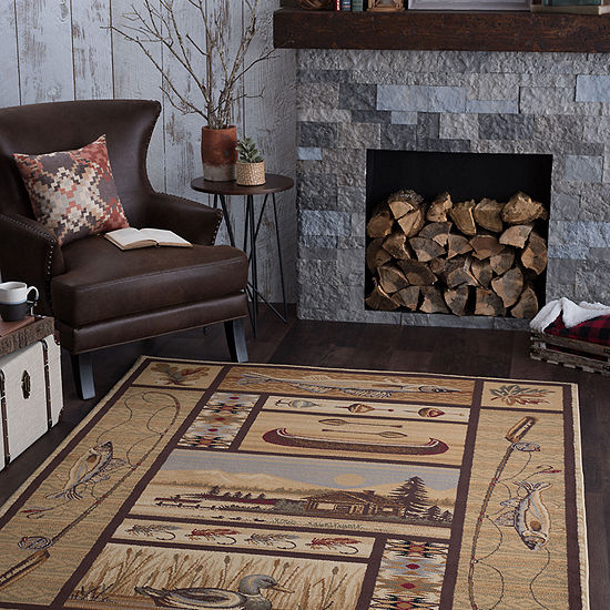 Tayse Nature Lodge Retreat Rectangular Rug