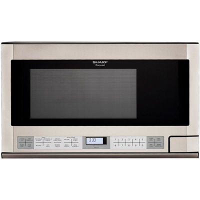 Sharp® 1.5 Cu. Ft. 1100W Over-the-Counter Microwave in Stainless Steel