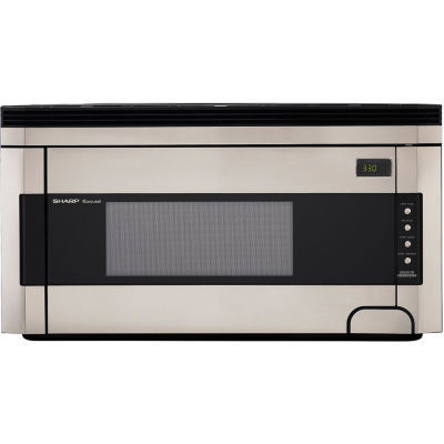 Sharp® 1.5 Cu. Ft. 1000W Over-the-Range Microwave Oven with Concealed Control Panel in Stainless Steel