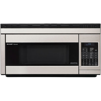 Sharp® 1.1 Cu. Ft. 850W Over-the-Range Convection Microwave in Stainless Steel