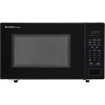 Sharp® Carousel 1.1 Cu. Ft. 1000W Countertop Microwave Oven in Black