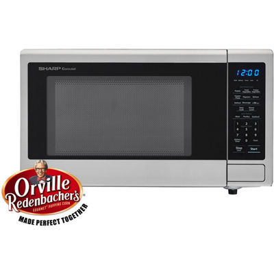 Sharp® Carousel 1.1 Cu. Ft. 1000W Countertop Microwave Oven with Orville Redenbacher's Popcorn Preset