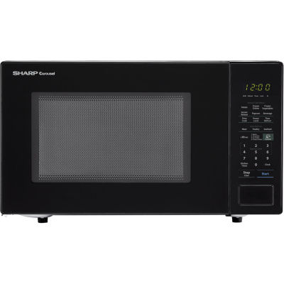 Sharp® Carousel 1.4 Cu. Ft. 1000W Countertop Microwave Oven in Black