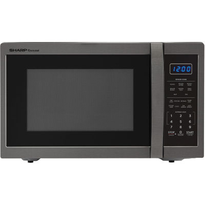 Sharp® Carousel 1.4 Cu. Ft. 1100W Countertop Microwave Oven in Black Stainless Steel