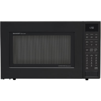Sharp® 1.5 Cu. Ft. 900W Convection Microwave Oven, Black