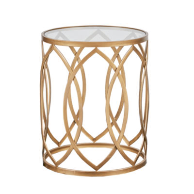Madison Park Coen Metal Eyelet Accent Table
