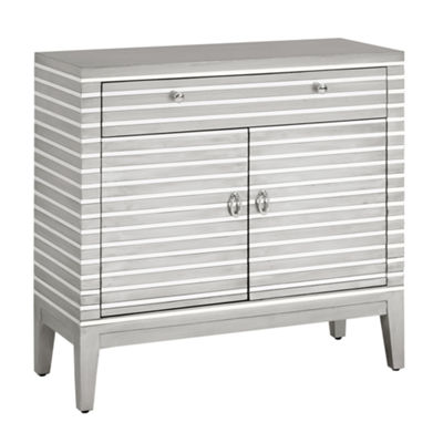 Madison Park Campbell Mirror Stripe Accent Chest