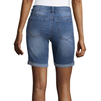 """a.n.a Embroidered Bermuda Shorts (9"""")"""