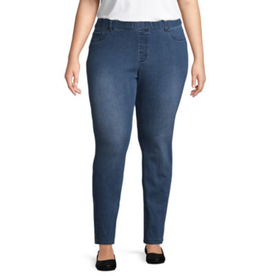 St. John's Bay® Pull On skinny Leg Denim - Plus