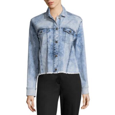 Libby Edelman Long Sleeve Two Tone Denim Jacket
