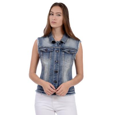 Lola Jeans Vest with Lace Back