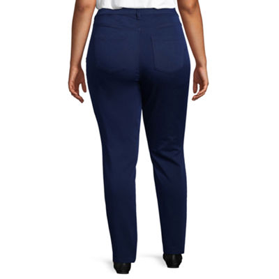 Liz Claiborne Flexi Fit Denim Pant - Plus