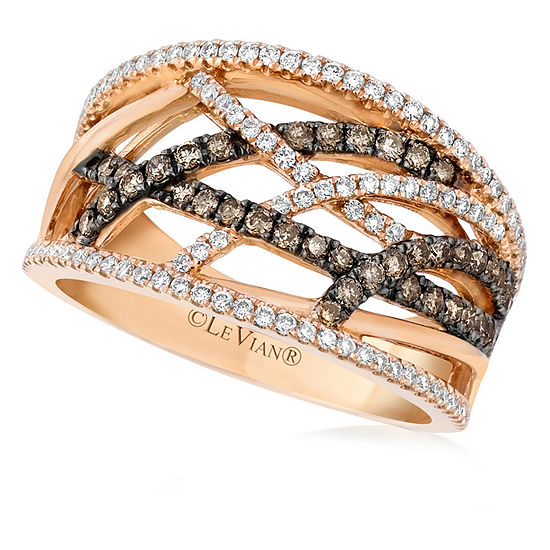 Limited Quantities Le Vian Grand Sample Sale Ring Featuring Chocolate Diamonds Vanilla Diamonds Set In 14k Strawberry Gold