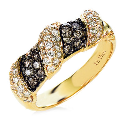 LIMITED QUANTITIES Le Vian Grand Sample Sale™ Ring featuring Chocolate Diamonds®, Vanilla Diamonds® set in 14K Honey Gold™