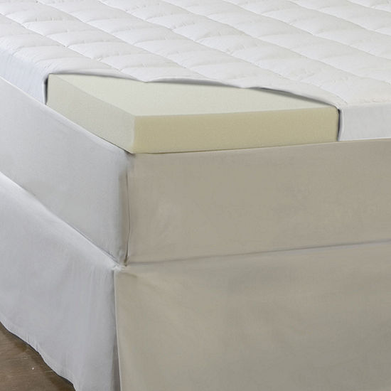 "Comforpedic from Beautyrest® Memory Foam and Fiber 4.5"" Mattress Topper"