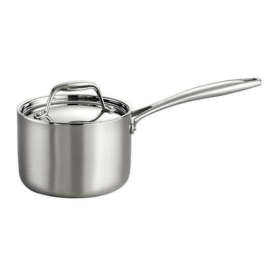 Tramontina Gourmet Tri-Ply Clad 18/10 Stainless Steel Induction-Ready Saucepan with Lid