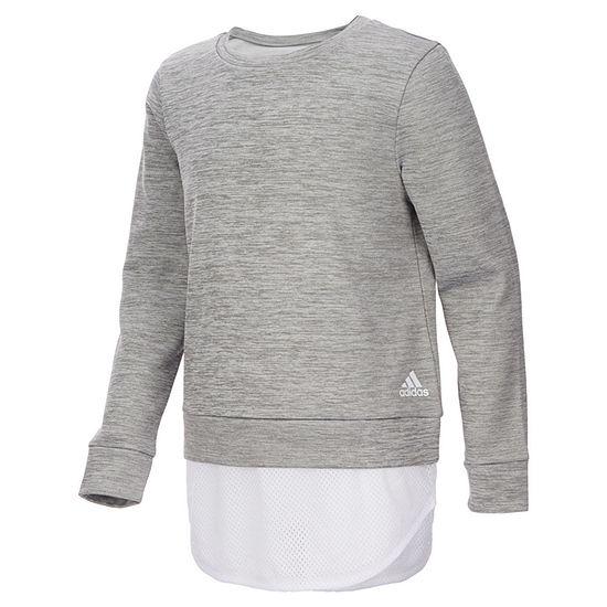 adidas Light Weight Fleece Sweatshirt -Big Kid Girls