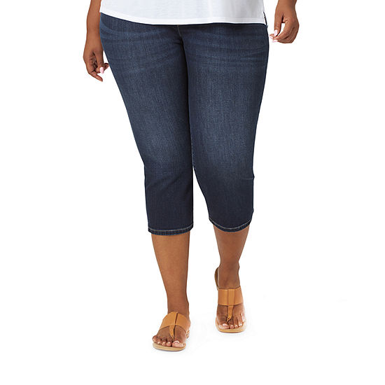 Lee Lee Sculpting Pull On Capri Mid Rise Plus Capris