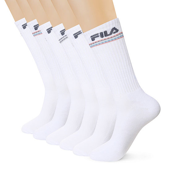 Fila Mens 6 Pair Crew Socks