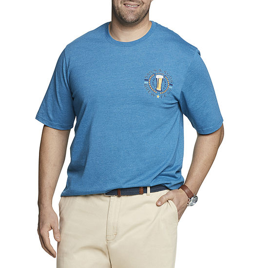 IZOD-Big and Tall Saltwater Mens Crew Neck Short Sleeve Graphic T-Shirt