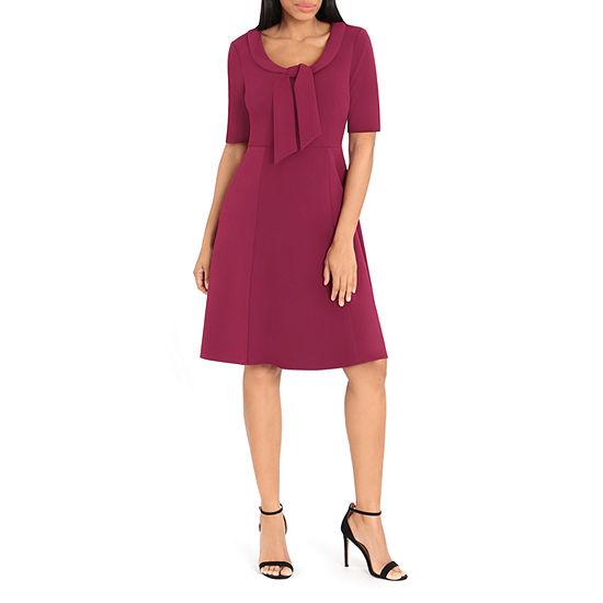 Ivy & Blue Short Sleeve Fit & Flare Dress