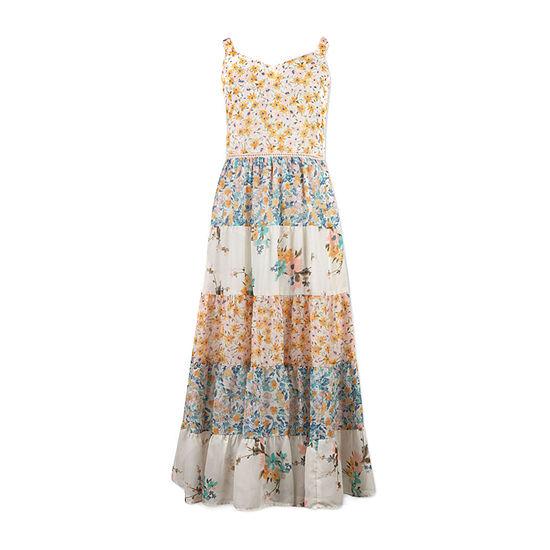 Speechless Big Girls Sleeveless Floral Maxi Dress