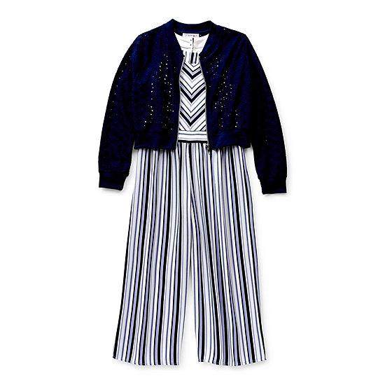 Knit Works Little & Big Girls Sleeveless 2-pc. Jumpsuit
