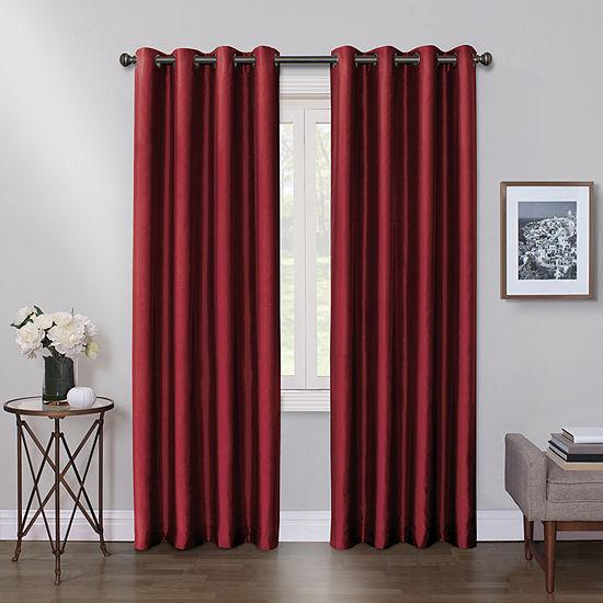 Max Blackout Mystique 100% Blackout Grommet Top Single Curtain Panel