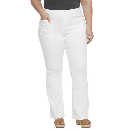 a.n.a - Plus Womens Low Rise Regular Fit Stretch Flare Jean