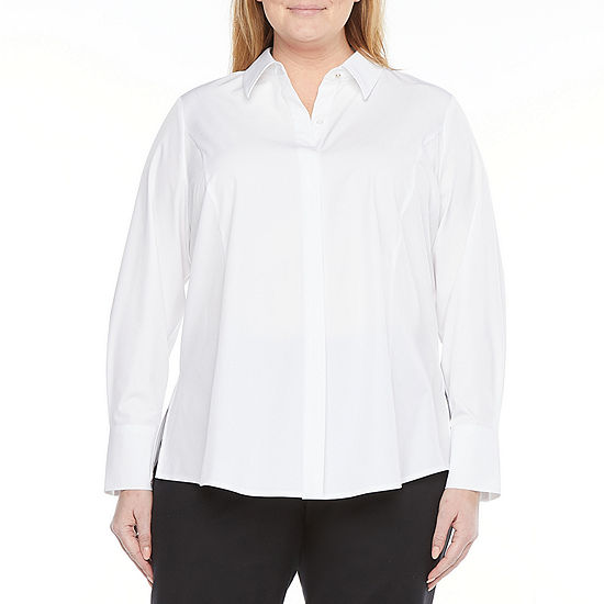Liz Claiborne  Plus The Perfect Tunic Shirt