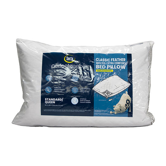 Serta Classic Feather Quilted Extra Comfort Pillow