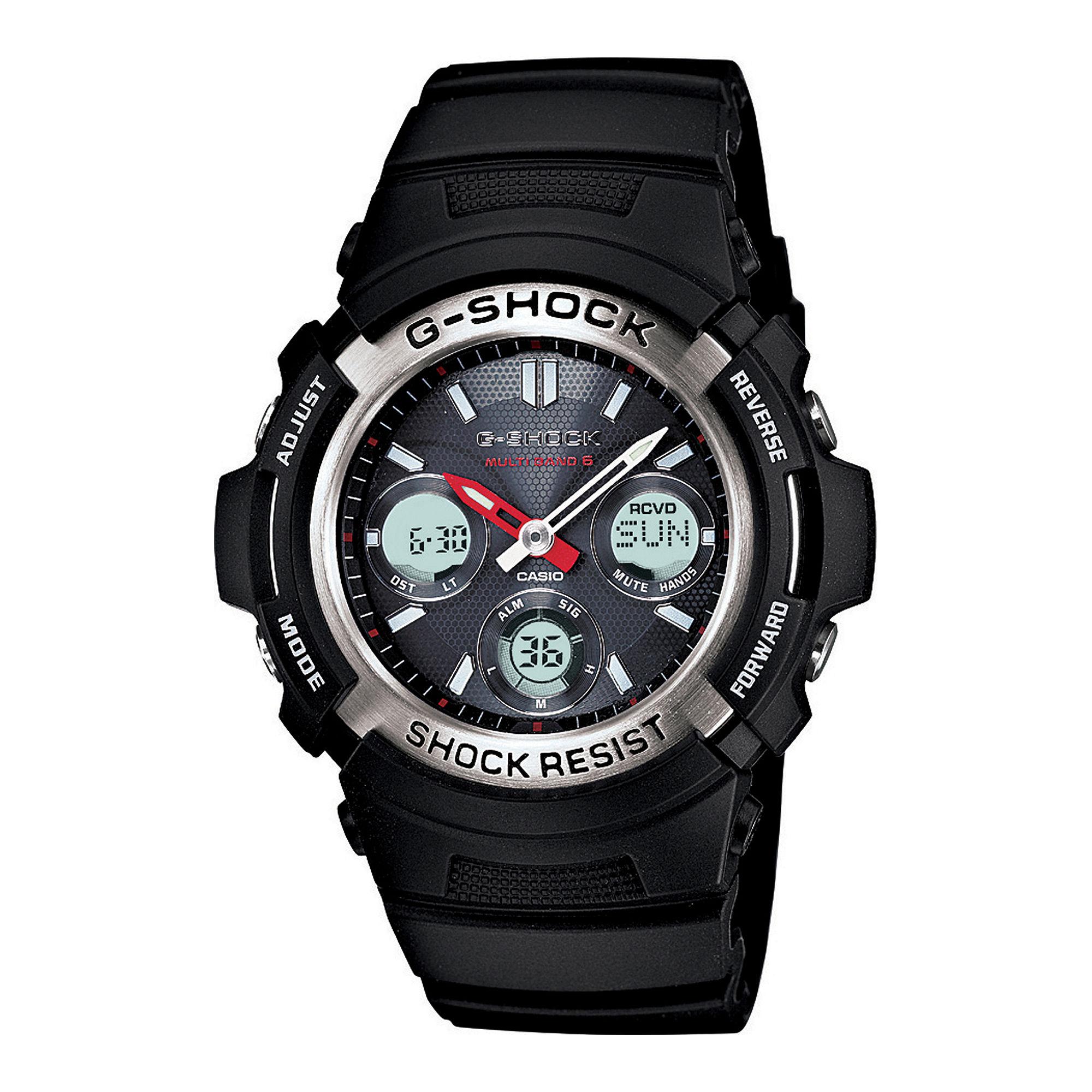 Casio G-Shock Mens Multi Band 6 Solar Watch AWGM100-1ACR