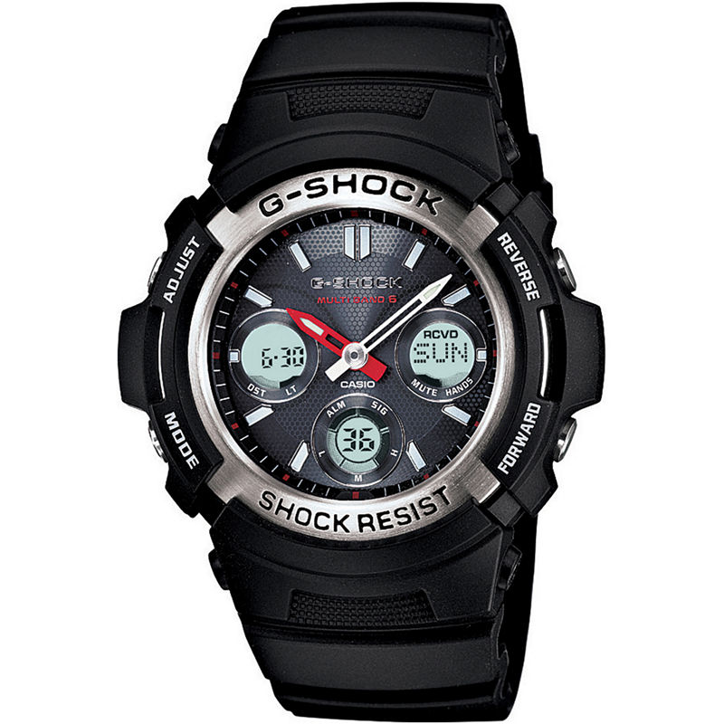 Casio G-Shock Mens Multi Band 6 Solar Watch AWGM100-1ACR