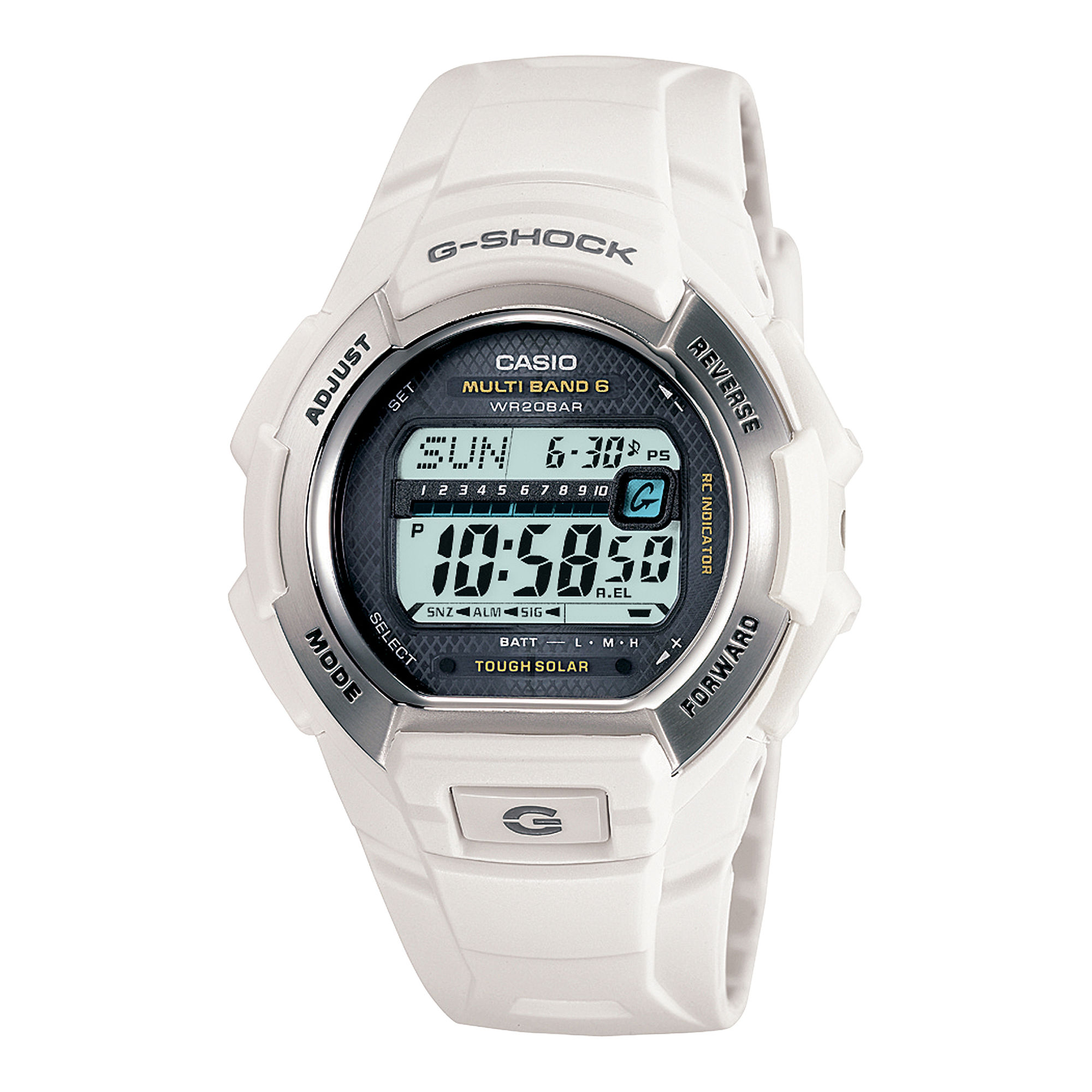 Casio G-Shock Multi-Band Atomic Time White Solar Watch GW-M850-7JCP