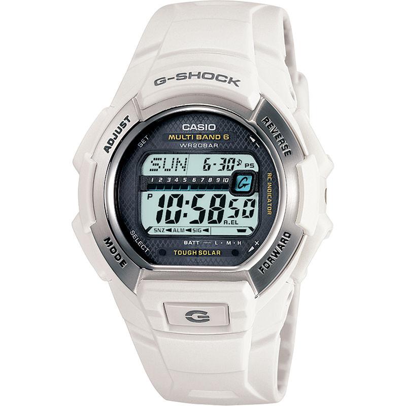 Casio G-Shock Multi-Band Atomic Time White Solar Watch GW-M850-7JCP