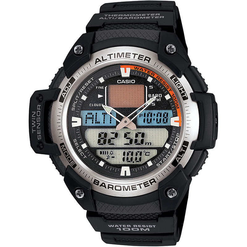 Casio Mens Twin Sensor Watch SGW400H-1B