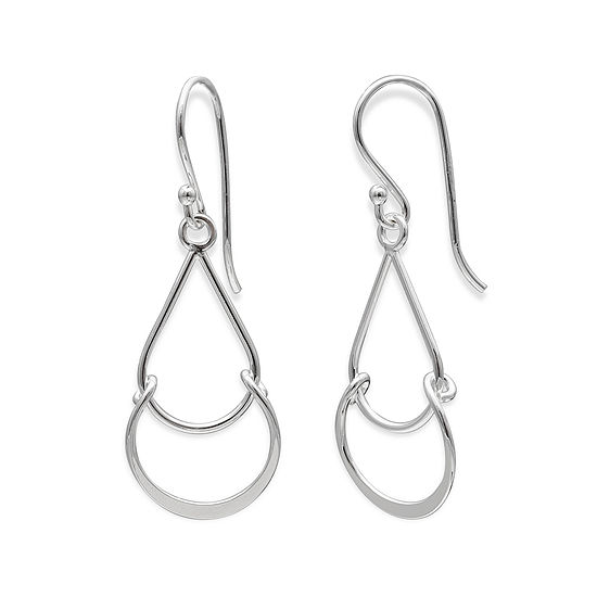 Sterling Silver Double Tear Drop Earrings