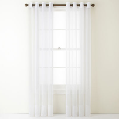 Home Expressions Lisette Grommet-Top Single Sheer Curtain Panel