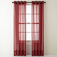 Red Sheer Curtains For Window Jcpenney