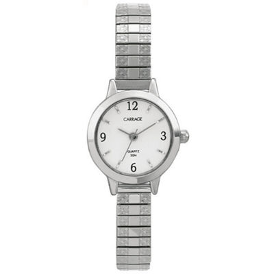 Carriage By Timex® Womens Two-Tone Expansion Watch C7A2419J