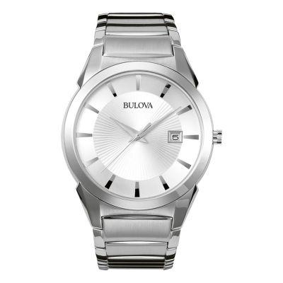 Bulova® Classic Men's Silver Dress Watch 96B015
