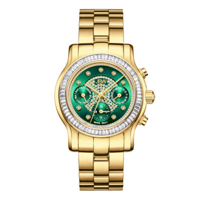JBW Laurel 18k Gold-Plated 0.09 C.T.W Diamond Womens Gold Tone Bracelet Watch-J6330e