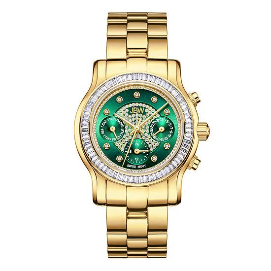 JBW Laurel 18K Gold Over Stainless Steel 1/10 CT. T.W. Genuine Diamond Bracelet Watch-J6330e