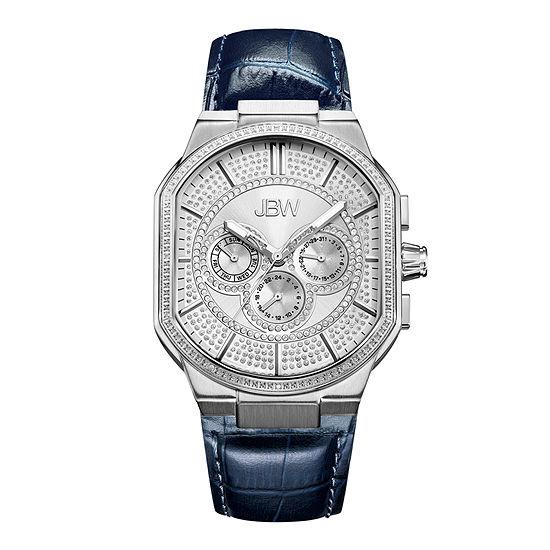 Jbw Orion 012 Ctw Diamond Accent Mens Blue Strap Watch J6342a