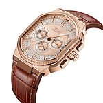 JBW Orion 1/8 CT. T.W. Genuine Diamond Brown Leather Strap Watch-J6342c