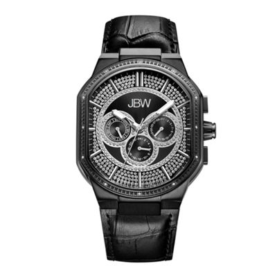 JBW Orion 0.12 C.T.W Diamond Mens Black Strap Watch-J6342d